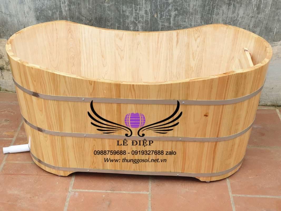bồn tắm bằng gỗ pơmu cao cấp