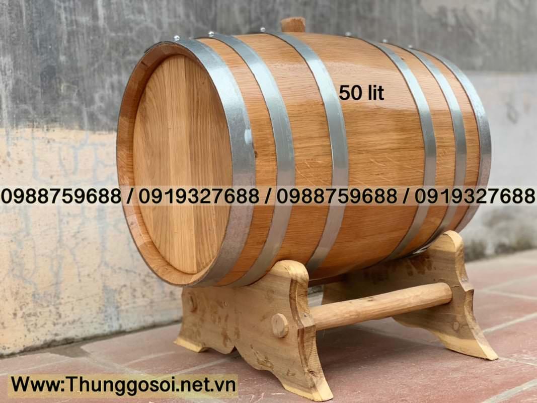 thùng ngâm rượu gỗ sồi chuẩn