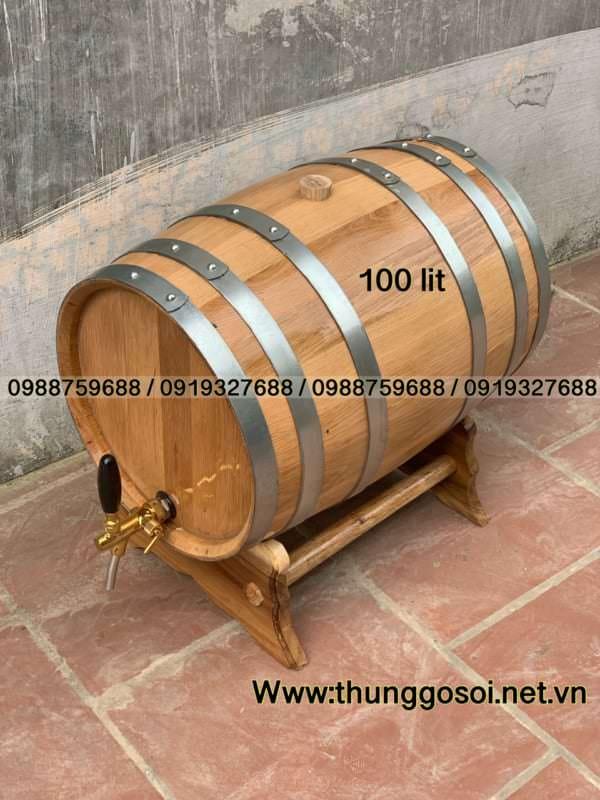 bán thùng rượu gỗ sồi