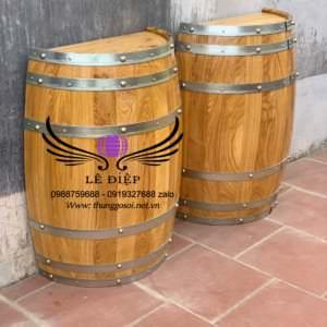 bàn thùng rượu ốp tường