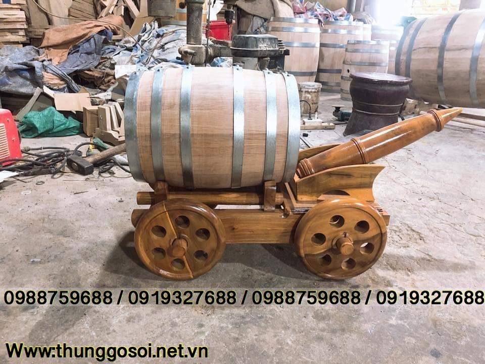 bom đựng rượu gỗ sồi