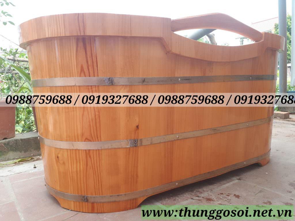 bồn tắm gỗ thông tại cssx LÊ ĐIỆP