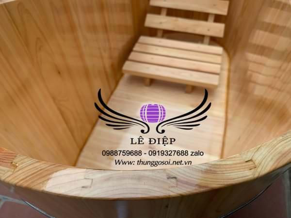 bồn gỗ được ghép âm dương hiện đại