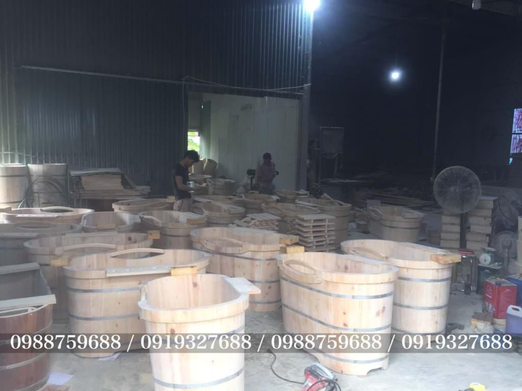 bồn tắm gỗ sản xuất tại Lê Điệp