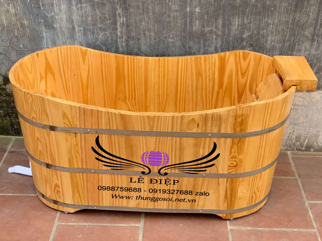 bồn gỗ thông kiểu dáng ovan