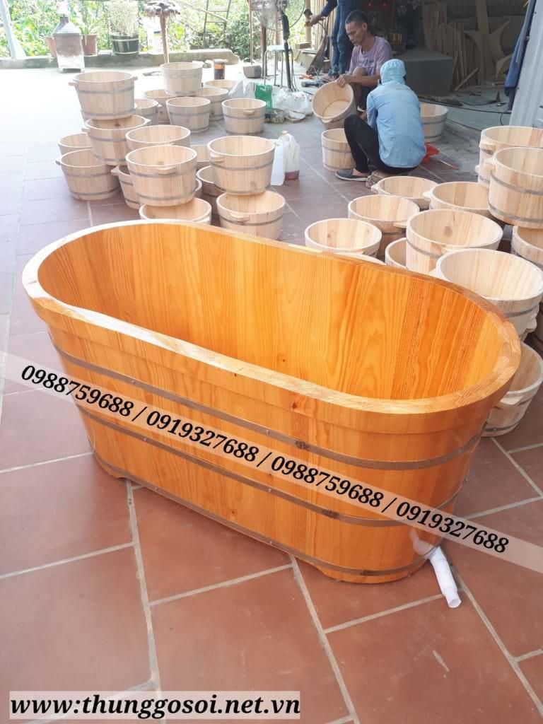 bán thùng tắm gỗ tại hà nội và tphcm