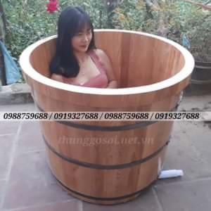 bồn tắm gỗ sồ