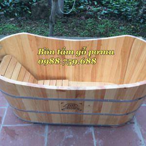 thùng tắm gỗ pomu nhập khẩu