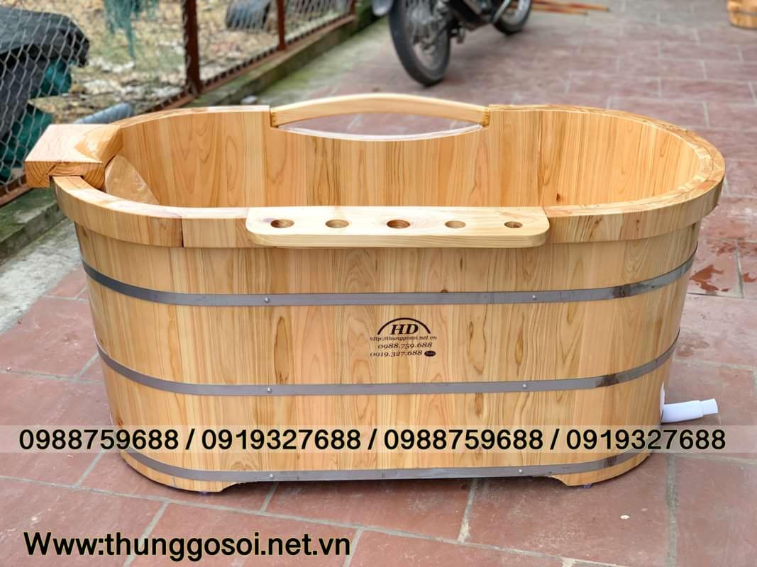 bồn tắm bằng gỗ pơ mu nhật