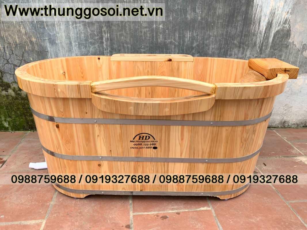 thùng tắm gỗ pơ mu nhật sx tại cssx Thùng Gỗ Lê Điệp