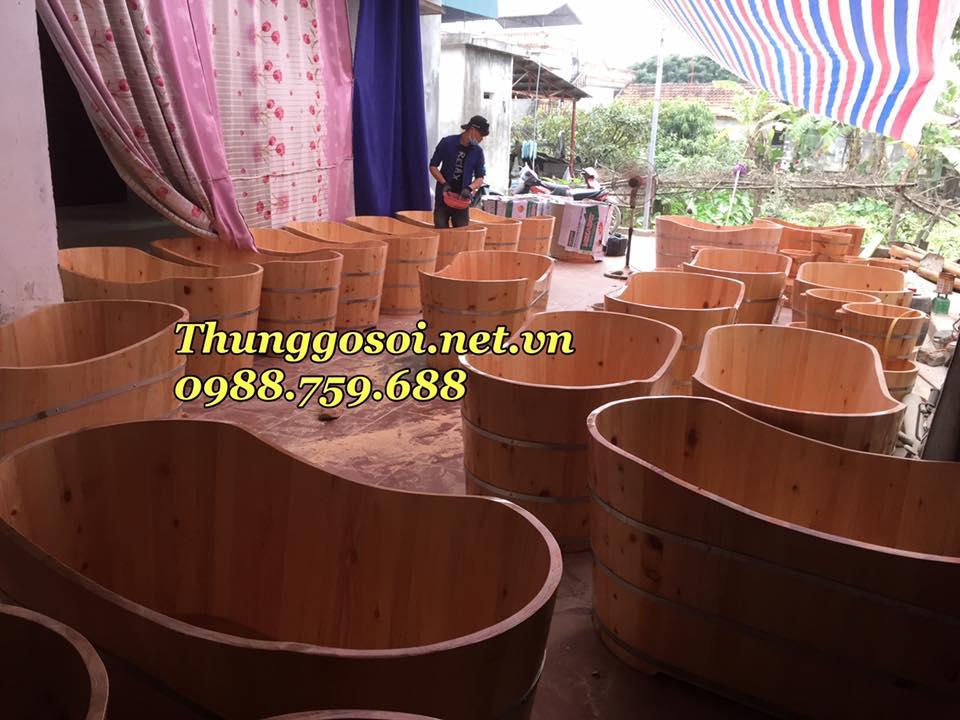 bán bồn tắm gỗ pơ mu nhật cao cấp