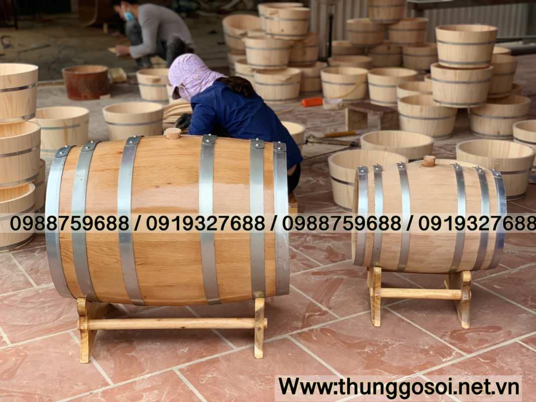 Thùng rượu sx tại thùng gỗ lê điệp