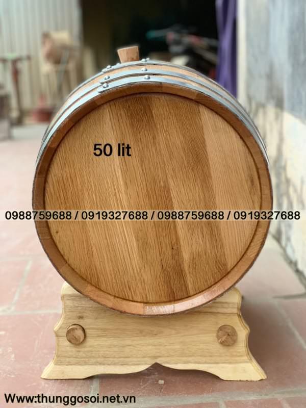 mặt thùng gỗ sồi