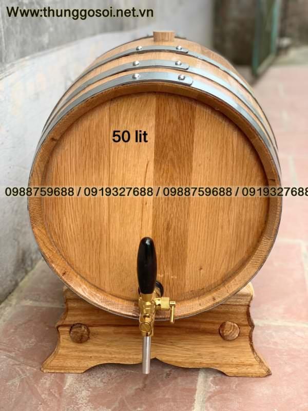 thùng rượu gỗ sồi mỹ