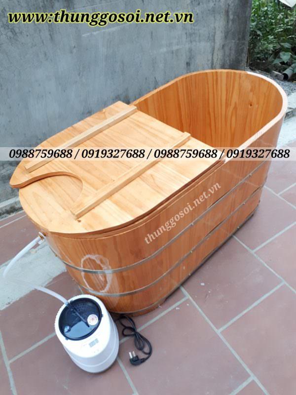 thùng tắm gỗ xông hơi