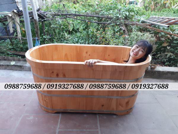 thùng tắm gỗ đẹp