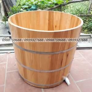 thùng tắm gỗ sồi