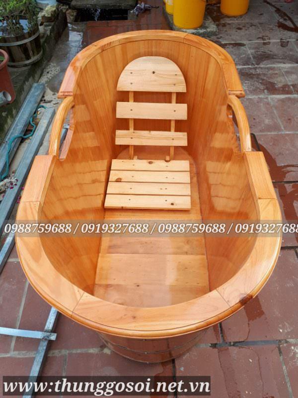 bán thùng tắm gỗ