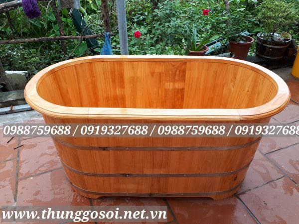 thùng tắm gỗ thộng