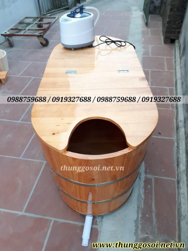 thùng gỗ xông hơi gỗ