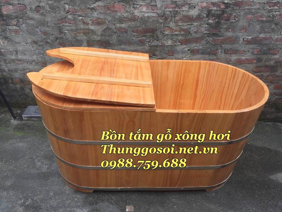 bồn tắm gỗ hai chức năng