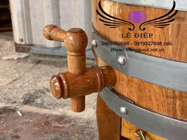 vòi gỗ thùng ngâm rượu gỗ sồi