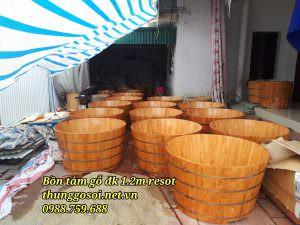thùng tắm gỗ đôi chất lương