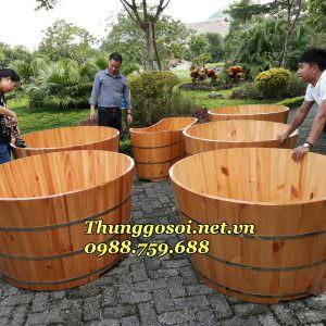 bồn tắm gỗ đôi cho resot