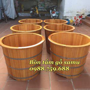 thùng tắm gỗ samu