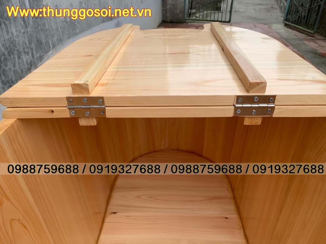 bồn xông hơi bằng gỗ