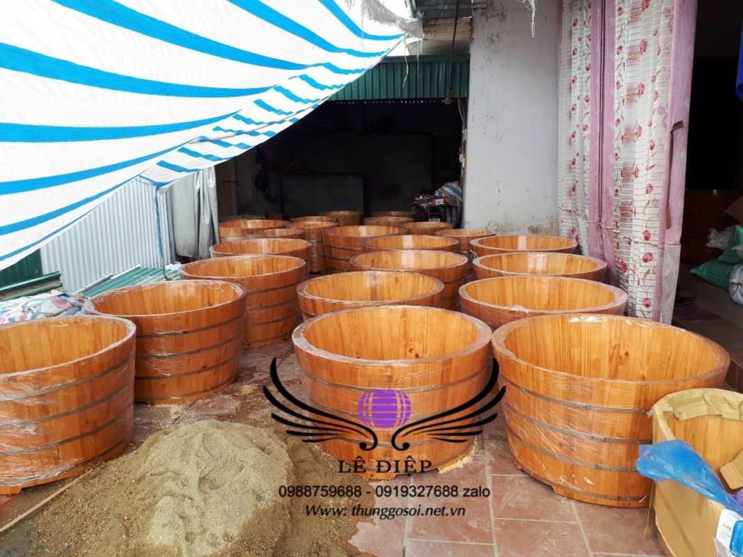 bồn tắm bằng gỗ cho resort