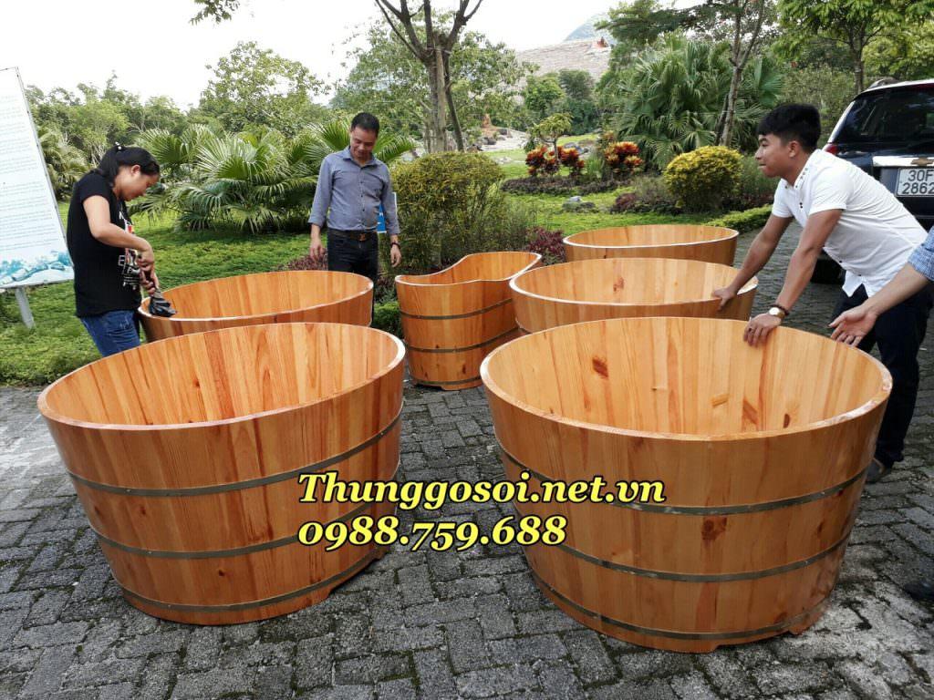 bồn tắm gỗ cho resort