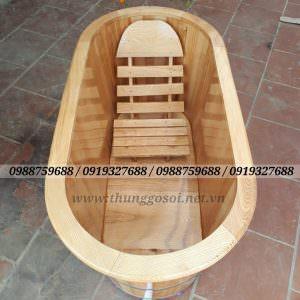 bồn tắm gỗ sồi cao cấp
