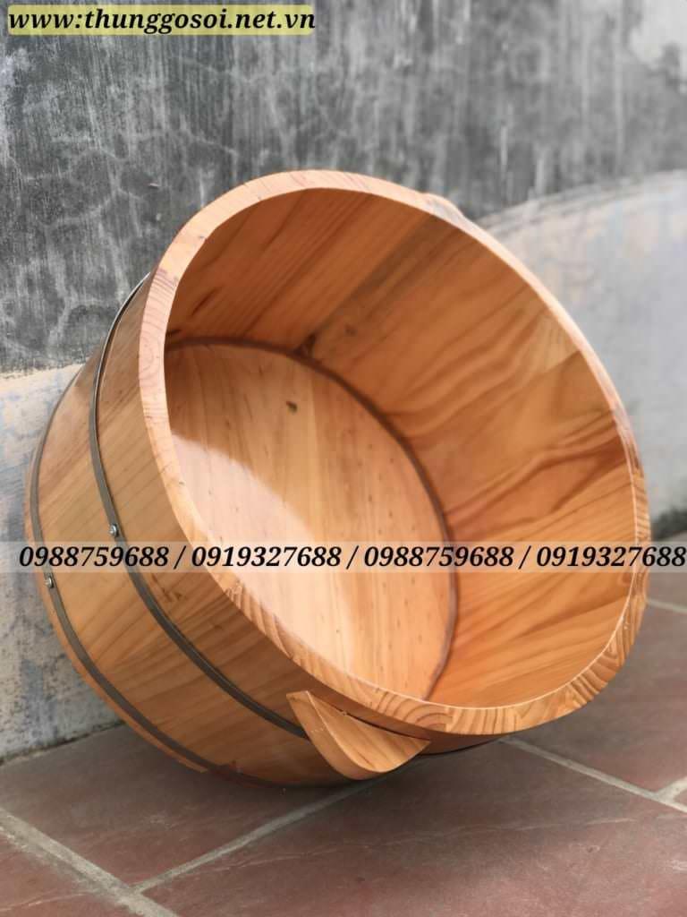 chậu gỗ ngâm mông