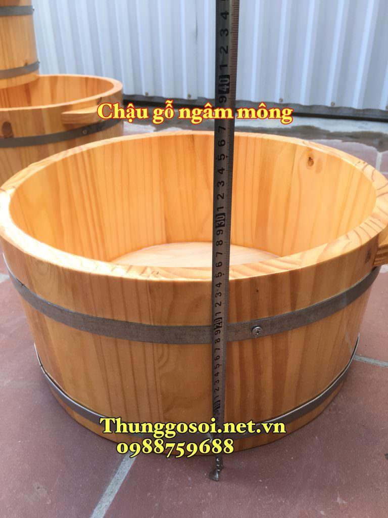 chậu gỗ ngâm mông chữa bệnh phụ khoa