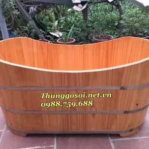 thùng tắm gỗ thông gía rẻ