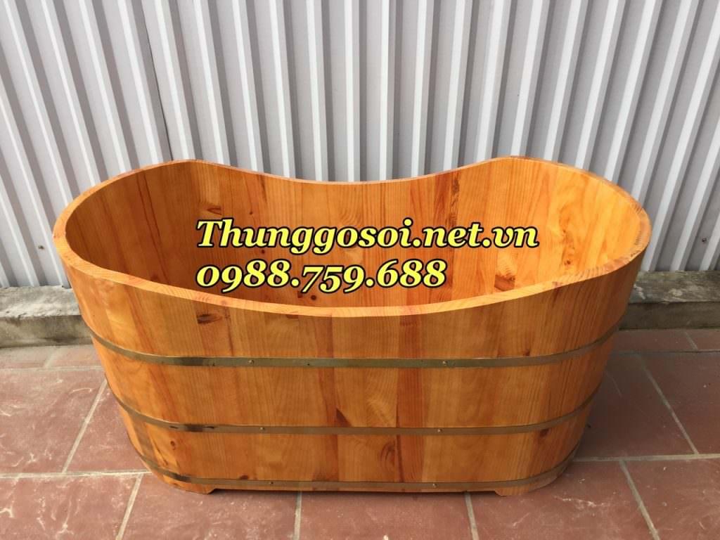 bồn tắm dài gỗ thông nhập khẩu giá rẻ
