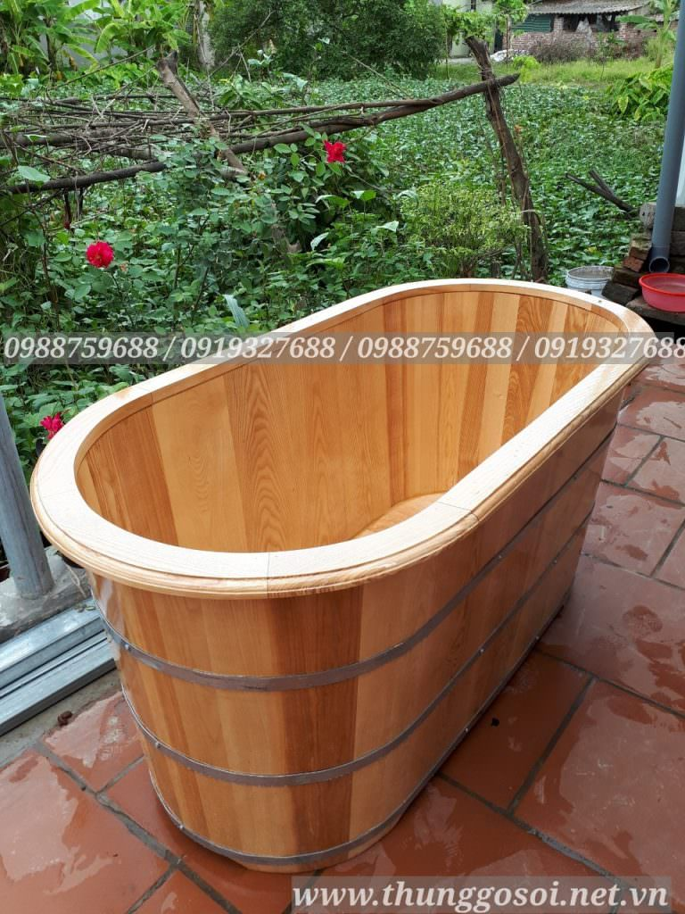 bán bồn tắm bằng gỗ sồi