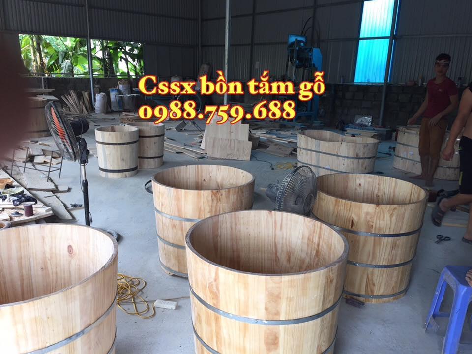 cơ sở sx bồn tắm gỗ chậu gỗ ngâm chân uy tín