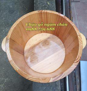 chậu gỗ ngâm chân gỗ thông