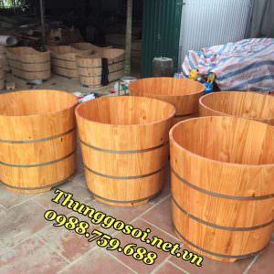 thùng tắm gỗ tròn chất lượng