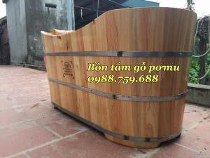 bồn tắm gỗ pơ mu chất lượng