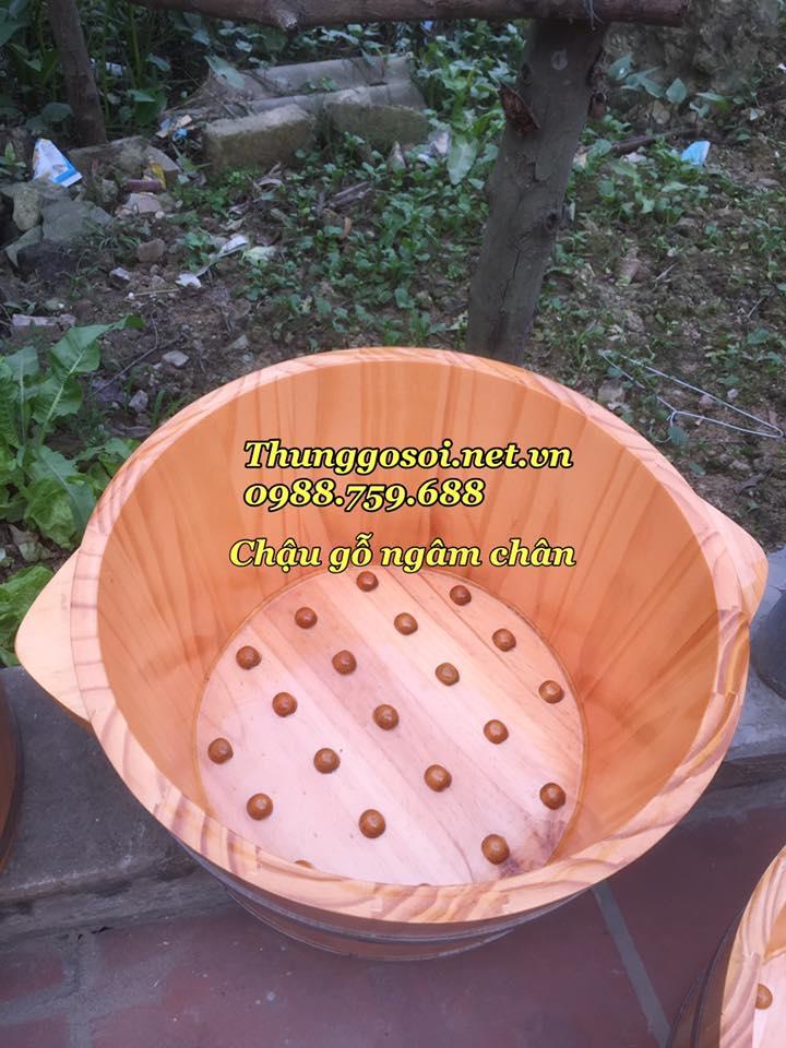 chậu gỗ ngâm chân matxa