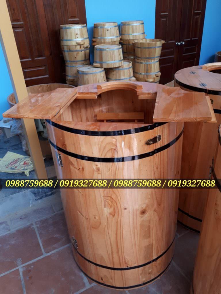 thùng gỗ xông hơi gia đình