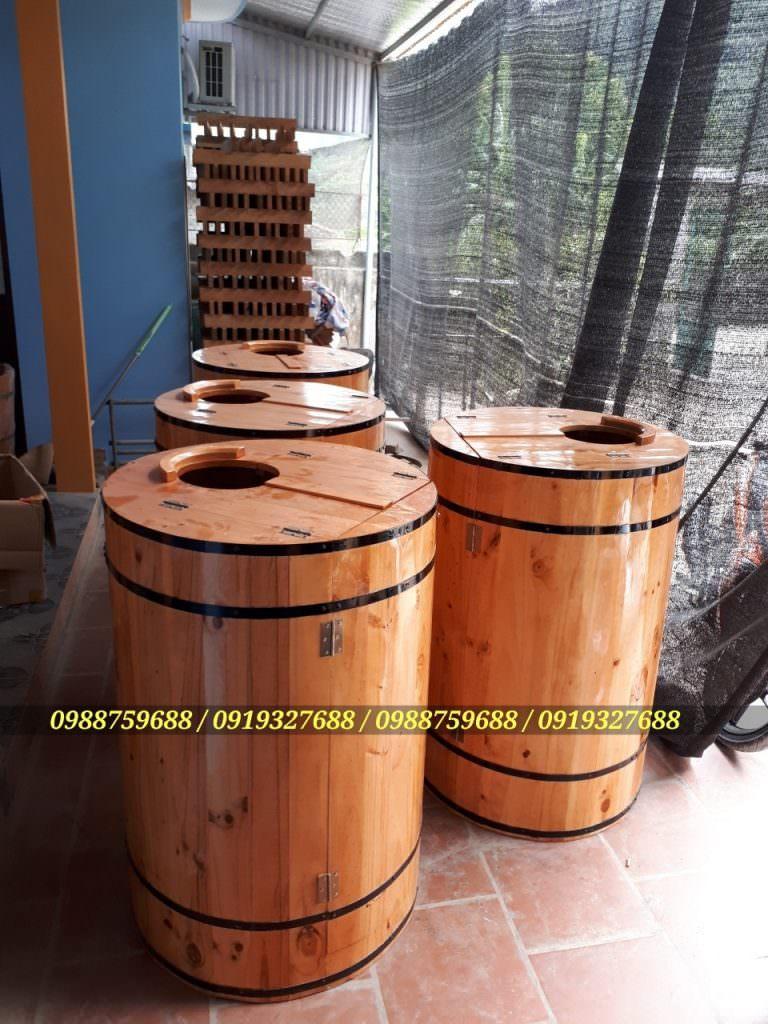 thùng gỗ xông hơi mini