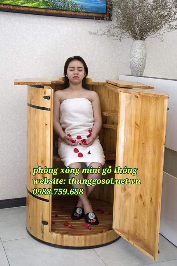 thùng xông hơi gỗ mini