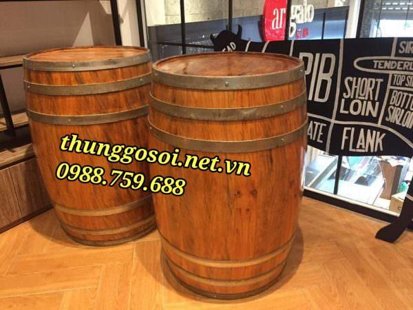 bàn thùng gỗ trang trí giá rẻ