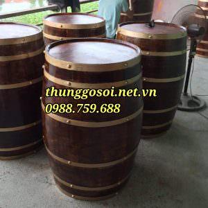 bàn thùng gỗ trang trí giá rẻ chất lượng