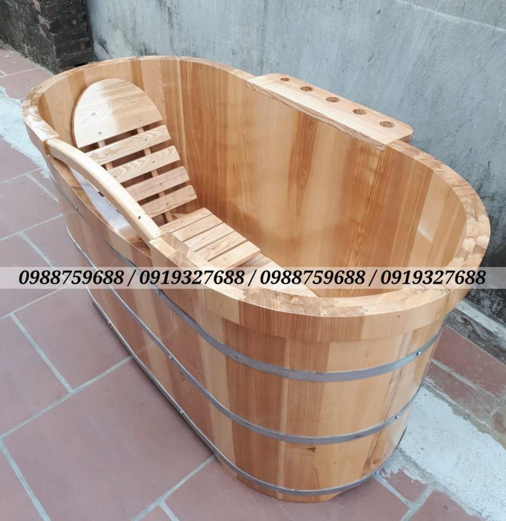 bán thùng tắm gỗ sồi cao cấp