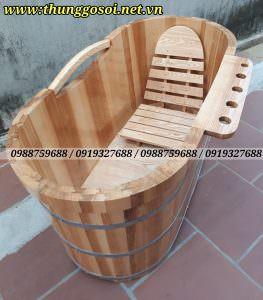 bồn tắm gỗ ghép mộng âm dương